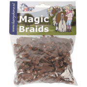 Harry's horse Magic Braids elastiekjes - Bruin, 500 elastiekjes