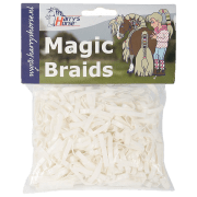 Harry's horse Magic Braids elastiekjes - Wit, 500 elastiekjes