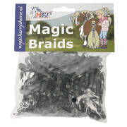 Harry's horse Magic Braids elastiekjes - Zwart, 500 elastiekjes