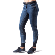 Harry's Horse Damesrijbroek Glam Denim - Blauw, 36