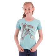 Anky Kinder Shirt Horse Girls - Groen, 140