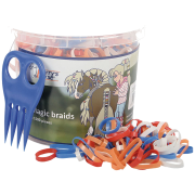 Harry's horse Magic Braids elastiekjes - Oranje, 1500 elastiekjes