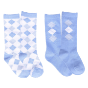 QHP Babysok Check - Blauw, One size
