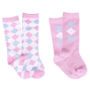 QHP Babysok Check - Roze, One size