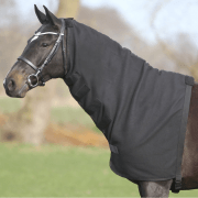QHP Losse Fleece Hals - Zwart, S
